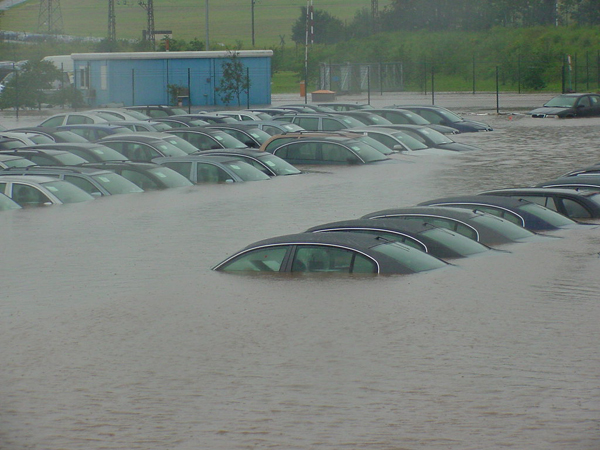 What Dealerships Do With Flooded Cars