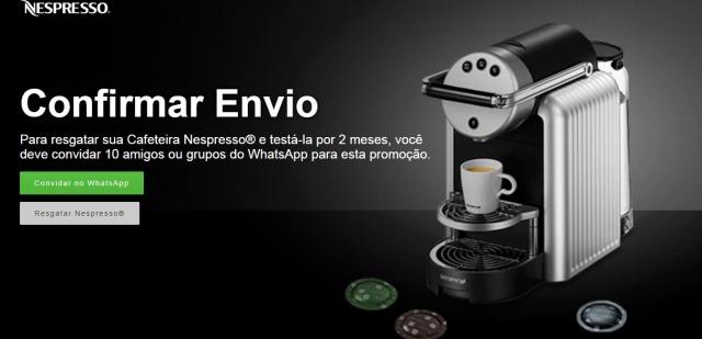 Promoção da Nespresso dá cafeteiras grátis?
