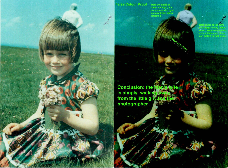Usuário do Reddit aplica alguns filtros na imagem e mostra que o astronauta é a mãe da menina! (Foto: reprodução/Reddit)