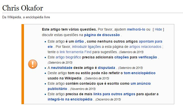 Aviso no verbete do pastor no Wikipédia mostra que o artigo seria apenas uma propaganda!