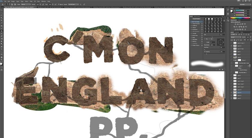 Tela do software MODO gerando a imagem da floresta!