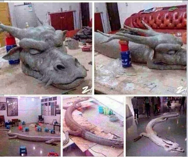 Fases da confecção do boneco chinês! (foto: Reprodução/Weibo)