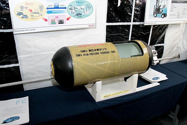 Tanques de hidrogênio do Mirai suportam grande pressão! (foto: Reprodução/Wikipédia)