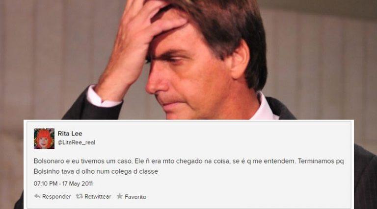 """Rita Lee afirmou no Twitter que namorou o Bolsonaro e que ele """"não era muito chegado""""?"""