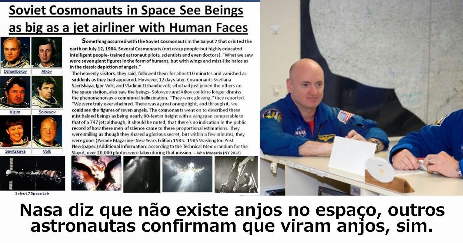 Astronauta Mark Kelly teria visto anjos no espaço! Será verdade? (foto: Reprodução/Facebook)