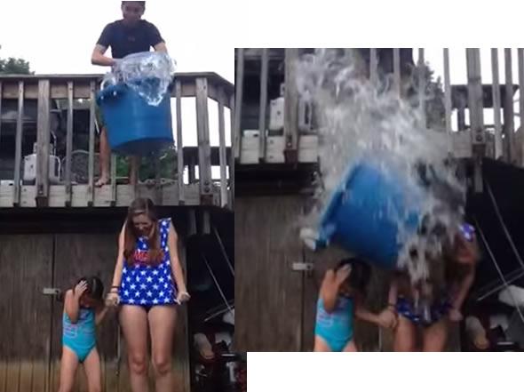 Acidente durante desafio do balde de gelo mata adolescente nos EUA! Verdadeiro ou falso? (foto: reprodução/YouTube)