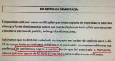 Imagem mostra carta de convocação do PT! Será verdade? (foto: Reprodução/Facebook)