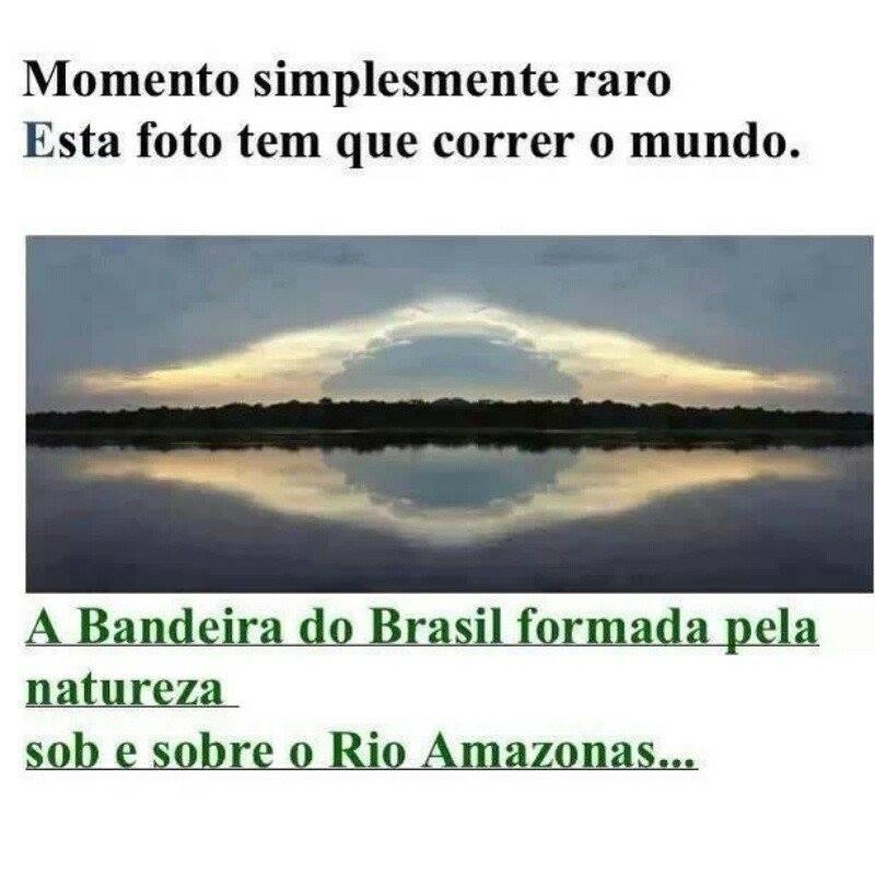 Bandeira do Brasil aparece em foto do Rio Amazonas!