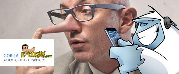 E-farsas participa do Gorilacast para falar sobre as mentiras da web! (foto: Divulgação/Gorila polar)