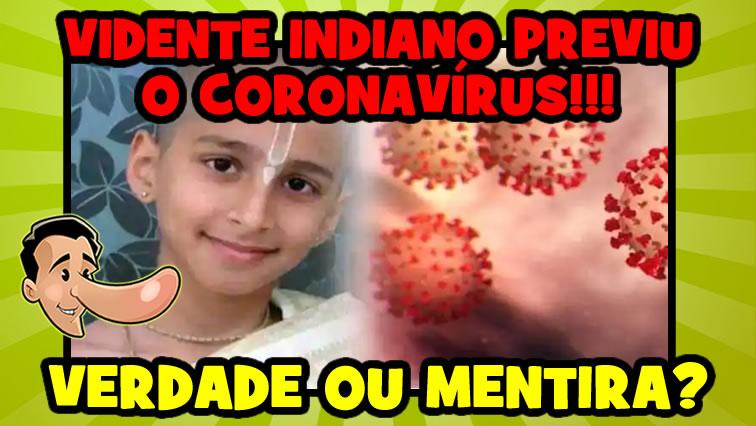 Um menino indiano previu o coronavírus meses antes da pandemia?