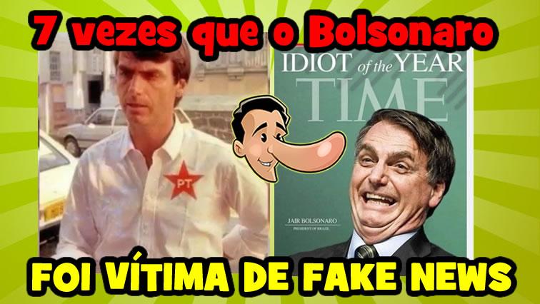 Vídeo: 7 vezes que o presidente Bolsonaro foi vítima de Fake News!