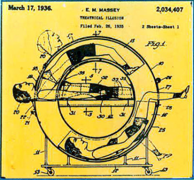 Patente de uma mágica da mulher partida ao meio! (foto: Reprodução/eBay)