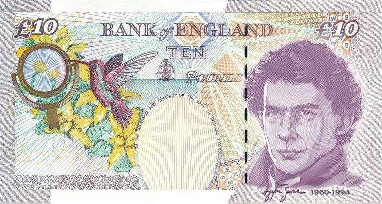 A Inglaterra homenageou o piloto Ayrton Senna nas notas de 10 libras?