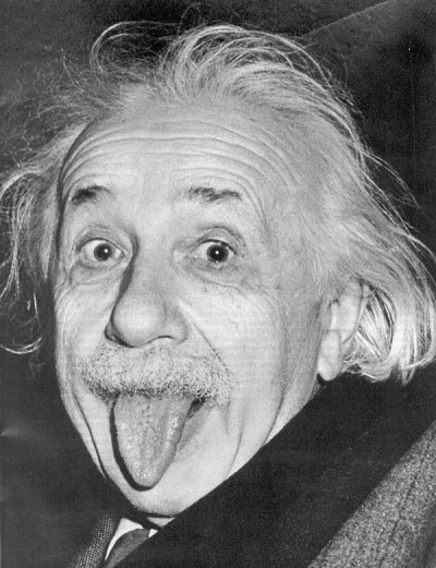 Albert Einstein (foto famosa do físico)