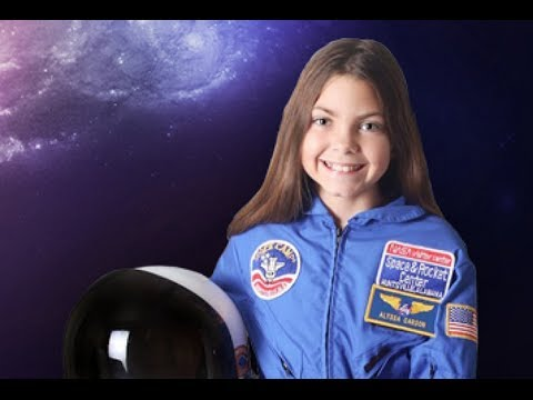 Alyssa Carson no site da NASA: Divulgação científica entre as crianças! (foto: Divulgação/NASA)
