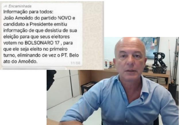 João Amoêdo desistiu da candidatura e vai apoiar o Bolsonaro?