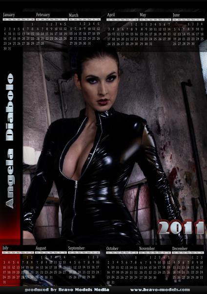Angela Diabolo em calendário de 2011 (reprodução)