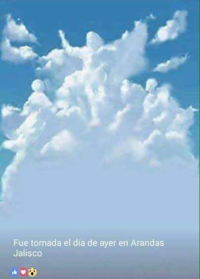 Nuvem em forma de anjos é vista em Jalisco! Será verdade?