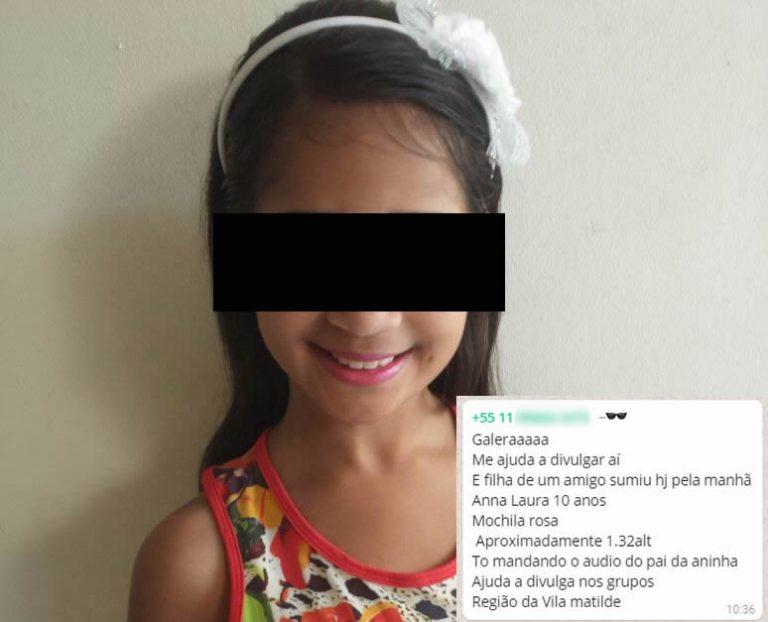 Anna Laura, de 10 anos, está mesmo desaparecida?