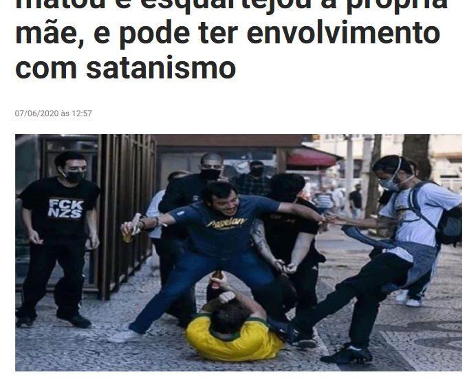 Um membro do grupo Antifas que agrediu um homem na avenida Paulista esquartejou a mãe?