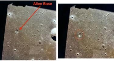 Fotos revelam base alienígena na Lua! Será verdade? (Fotos: Reprodução/Facebook)