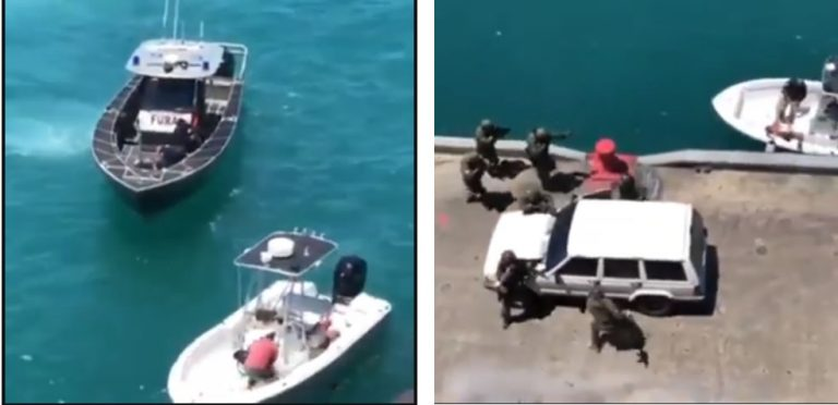 Vídeo mostra tiroteio e apreensão de drogas e armas na baía de Guanabara! Será verdade?