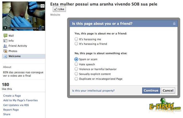 Falsa página do Facebook solicitando instalação de plugin malicioso!