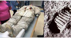 Bota de astronauta estaria denunciando toda a farsa da ida do Homem à Lua! Será verdade? (foto: reprodução/Facebook)