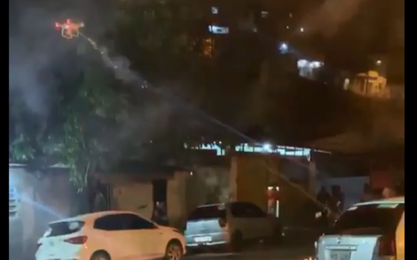 Um morador de Indaiatuba usou drone com fogos de artifício para acabar com festa?