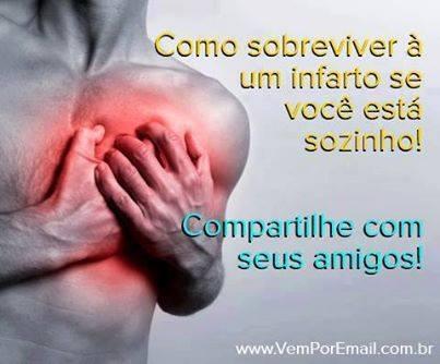 Fanpage ensina que tossir durante um ataque do coração pode salvar a sua vida! (foto: Reprodução/Facebook)
