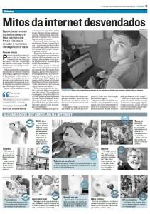 E-farsas.com no jornal A Tribuna - ES - 06-11-2011 - Reprodução