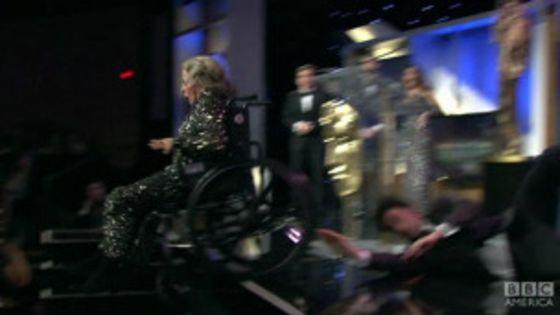 Sacha Baron Cohen matou acidentalmente uma atriz de cadeira de rodas no Oscar?