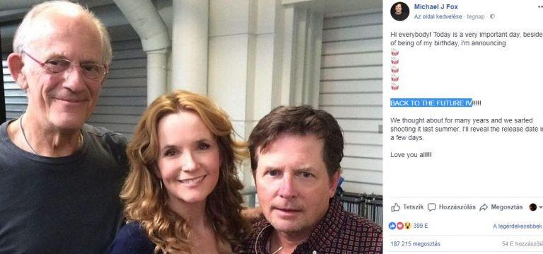 Michael J. Fox anunciou o De Volta Para o Futuro 4?