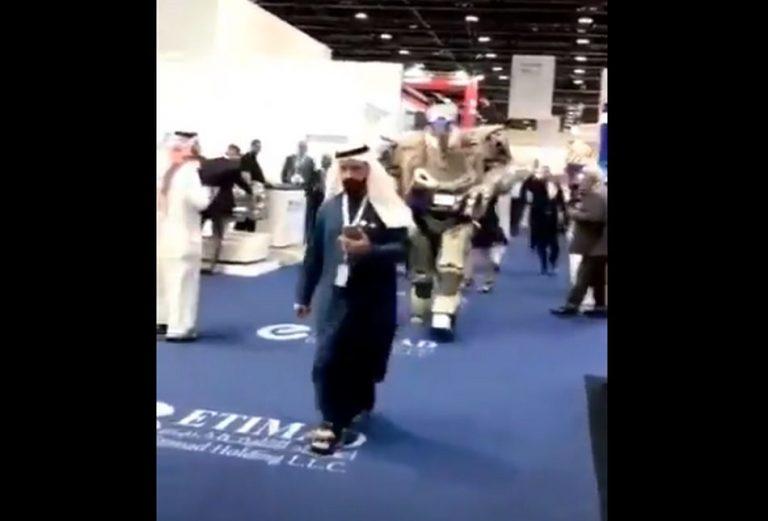 Rei do Bahrein possui um robô equipado com câmeras e armas de fogo de guarda-costas?
