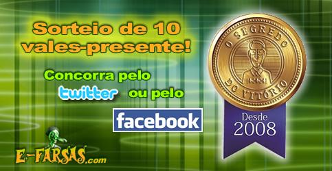Banner Promoção E-farsas 10 anos e o Segredo do Vitório