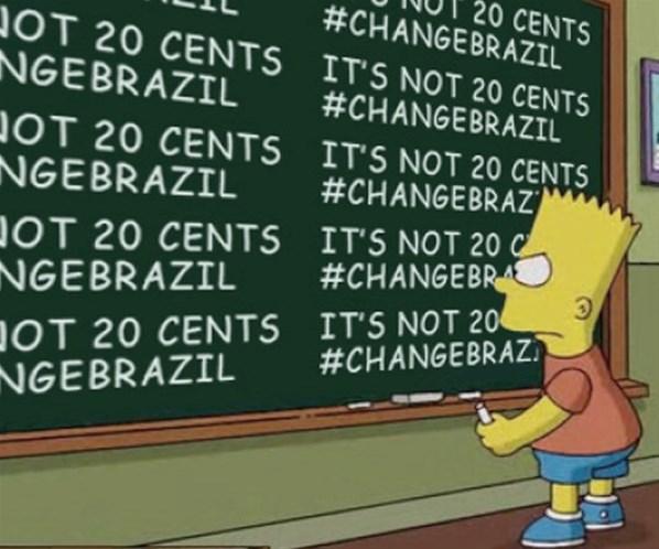 Os Simpsons poderá ter um episódio sobre as manifestações no Brasil. Verdadeiro ou falso?