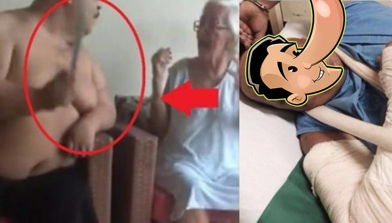 Homem que bateu na mãe foi espancado e quase morto na cadeia?