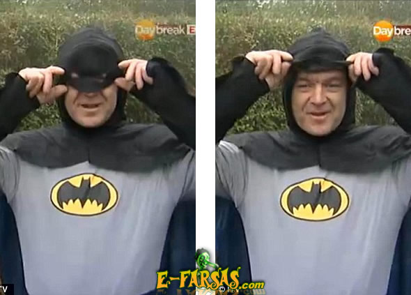 O Batman desmascarado! O herói é amigo do vilão! (fotos: Reprodução/YouTube)