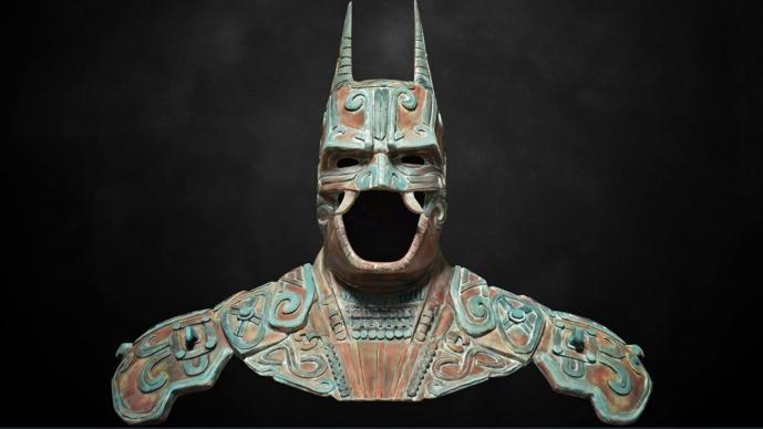 Escultura antiga prova que o Batman foi inspirado no deus maia Camazotz?