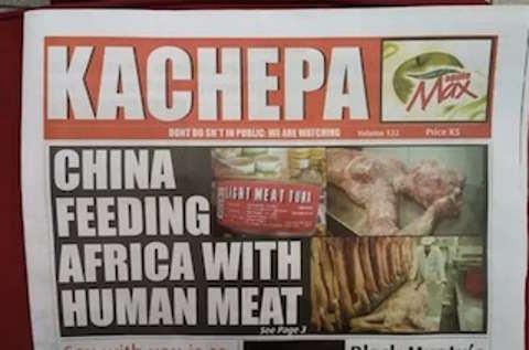 A China estaria exportando carne humana para países da África! Será verdade? (foto: reprodução/Facebook)