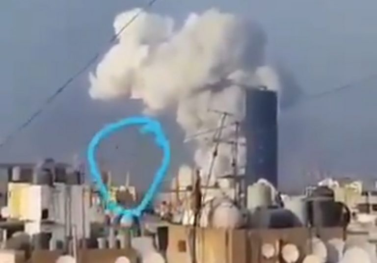Vídeo mostra um míssil ou drone de causando a megaexplosão em Beirute?