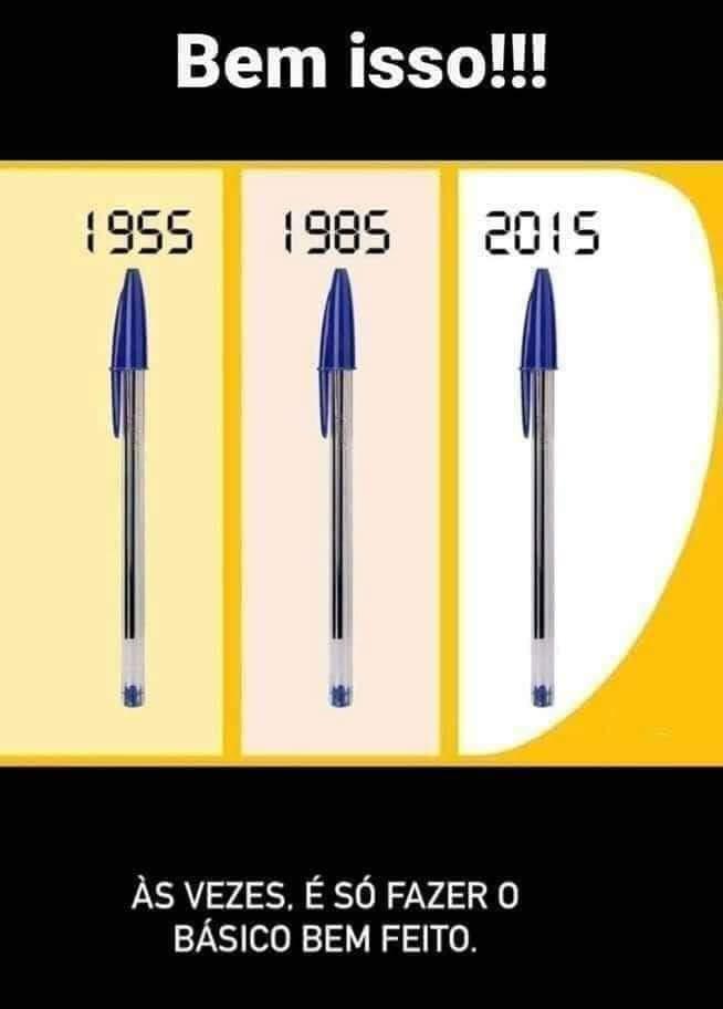 O design da caneta BIC não teve alterações desde 1955?