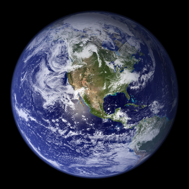 Blue Marble - Versão final de Robert Simmons - NASA