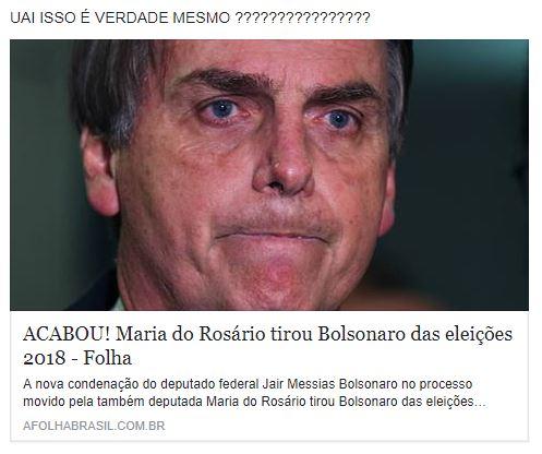 Maria do Rosário conseguiu tirar Bolsonaro das eleições de 2018?