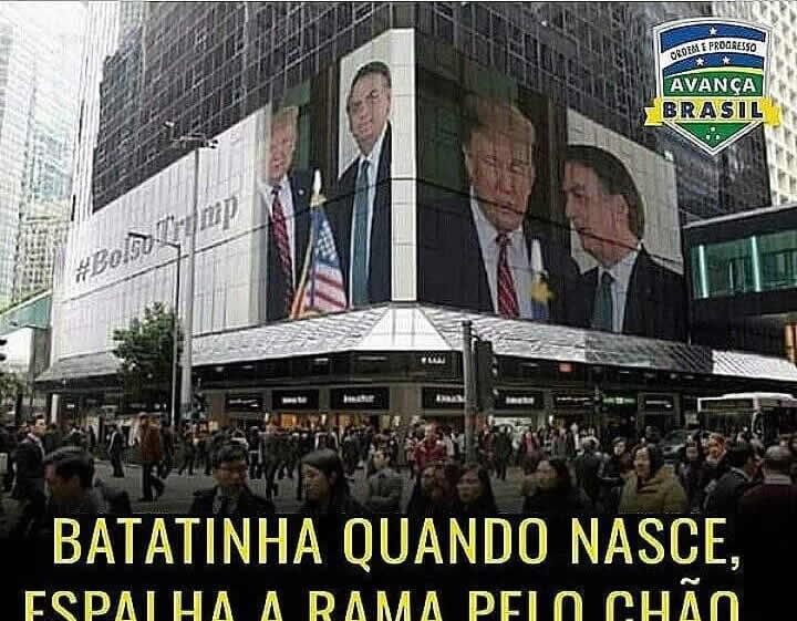 As fotos mostrando Bolsonaro e Trump nos telões da Times Square são reais?
