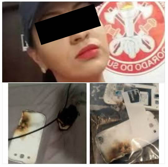 Bombeira morre queimada por usar o celular carregando em cima da cama! Será?