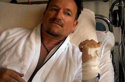 Bono Vox estaria interado com ebola? (foto: reprodução/facebook)