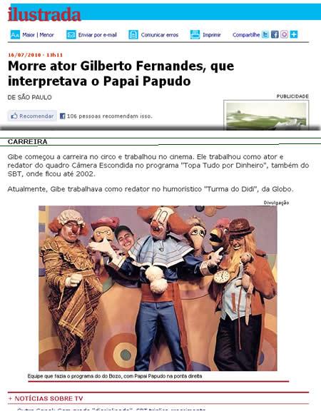 Foto falsa da familia Bozo no site da Folha