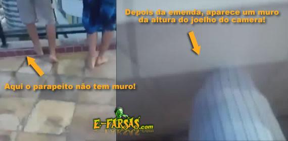 Comparando vídeos da brincadeira que terminou em morte no Recife