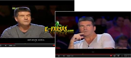 A camisa do jurado Simon Cowell muda de cor durante o vídeo!